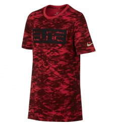 T-Shirt Nike Elite Camo rouge junior