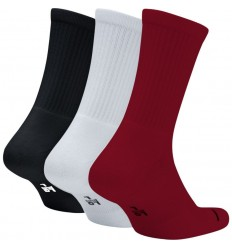 Pack 3 Paires de chaussettes Jordan blanc noire rouge