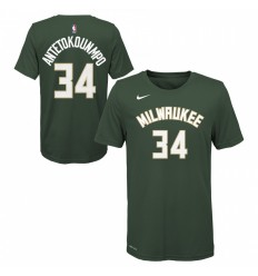 T-Shirt Name And Number Giannis Antetokounmpo vert