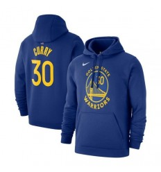 Hoodie Name And Number Stephen Curry bleu cadets