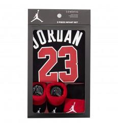 Set bébé Jordan 3 pièces noir et rouge