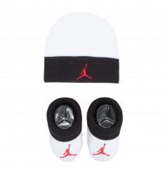 Combo Jordan naissance Bonnet Chaussettes rouge et blanc