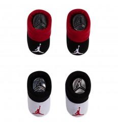 Set bébé Jordan chaussettes noires et blanches