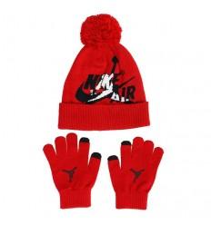 Kit gants + bonnet Jordan Jumpman Classics rouge junior