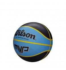 Mini ballon de basket Wilson MVP — Noir/Bleu