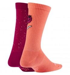 Chaussettes Nike Everyday orange et rouge junior