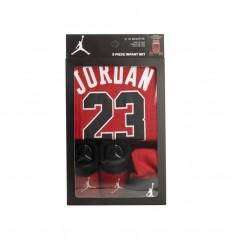 Set bébé Jordan 3 pièces rouge