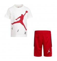 Ensemble Jordan Jumpman Air blanc et rouge cadet