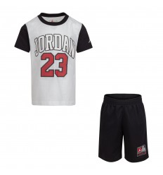 Ensemble Jordan Practice Flight blanc noir rouge cadet