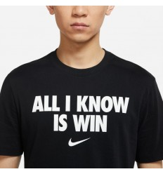 "T-Shirt Nike ""All I Know Is Win"""