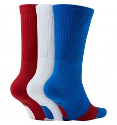 Pack de chaussettes nike Everyday Crew bleu blanc rouge