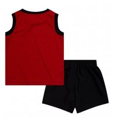 Ensemble Jordan Muscle noir et rouge cadet