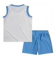 Ensemble Jordan Muscle bleue et blanc cadet
