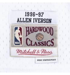 Jersey Swingman Allen Iverson 1996 1997 blanc Mitchell and Ness