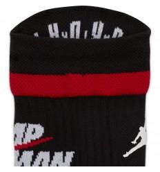 Chaussettes Jordan Jumpman Legacy noire et rouge